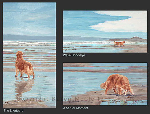 Golden Retriever beach series